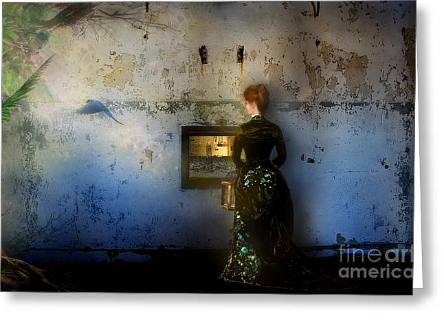Looking Through The Past To The Future Greeting Card by Carrie Jackson