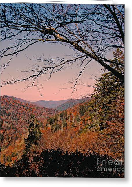 Gatlinburg Tennessee Greeting Cards - Looking Thru The Mountains Greeting Card by Tom Gari Gallery-Three-Photography