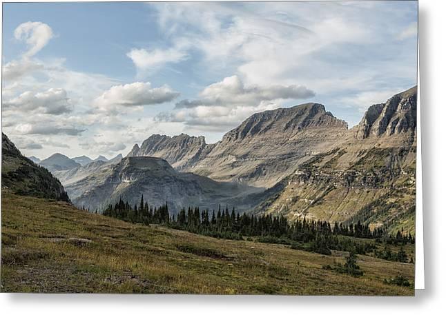 Looking Towards Bishops Cap And Mt Gould - Glacier Np Greeting Card by Belinda Greb