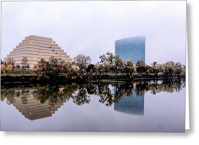 Ziggurat Greeting Cards - Looking towards West Sacramento Greeting Card by James Morris