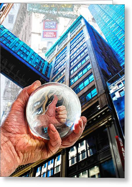 Fortune-telling Greeting Cards - Looking Up In NY 2 Greeting Card by Rick Mosher