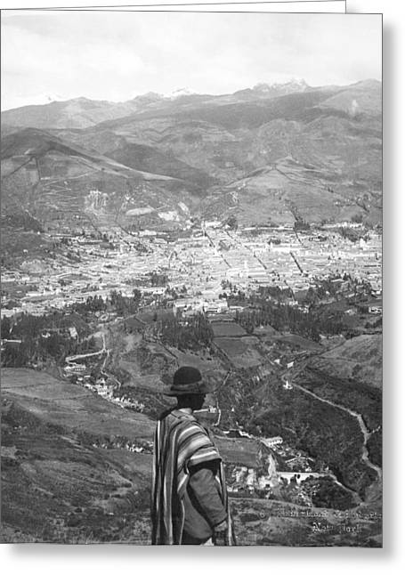 1907 Greeting Cards - Looking West Over Quito Greeting Card by Underwood Archives