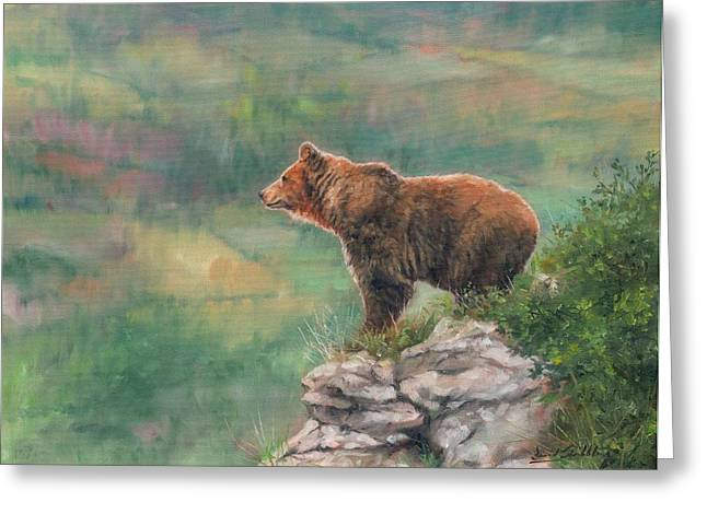 David Greeting Cards - Lookout Greeting Card by David Stribbling