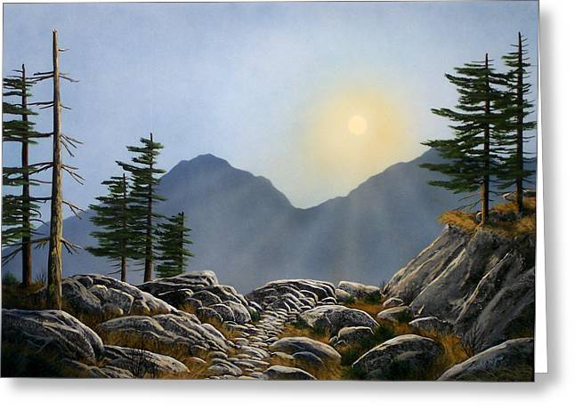 Pacific Crest Trail Greeting Cards - Lookout Rock Greeting Card by Frank Wilson