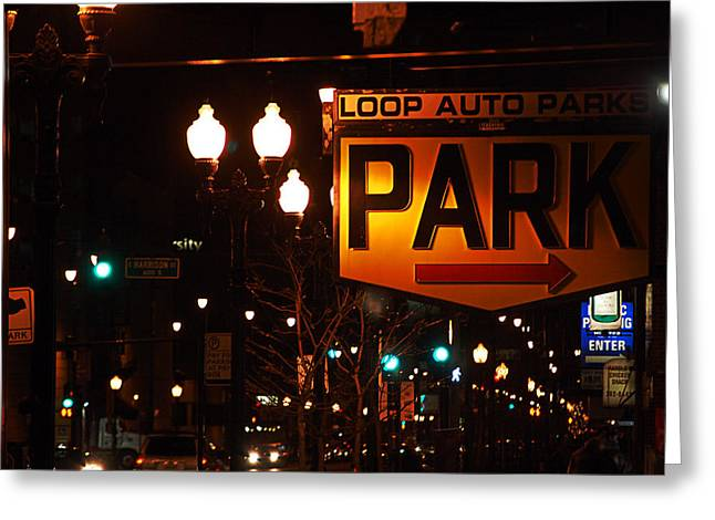 Jame Hayes Greeting Cards - Loop Auto Park Greeting Card by Jame Hayes