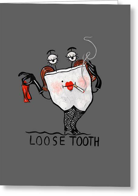 T Shirts Greeting Cards - Loose Tooth T-Shirt Greeting Card by Anthony Falbo