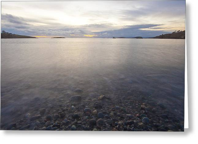 Agate Beach Greeting Cards - Lopez Island Rising Tide Greeting Card by Matt McDonald