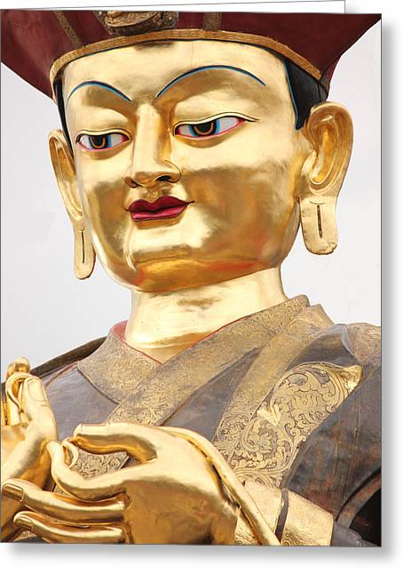 Lord Sculptures Greeting Cards - Lord Buddha Greeting Card by Diwash Amgain