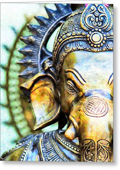 Ganapati Greeting Cards - Lord Ganesha Greeting Card by Tim Gainey