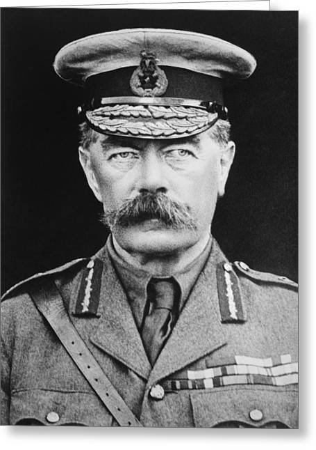 Wwi Photographs Greeting Cards - Lord Herbert Kitchener Greeting Card by War Is Hell Store