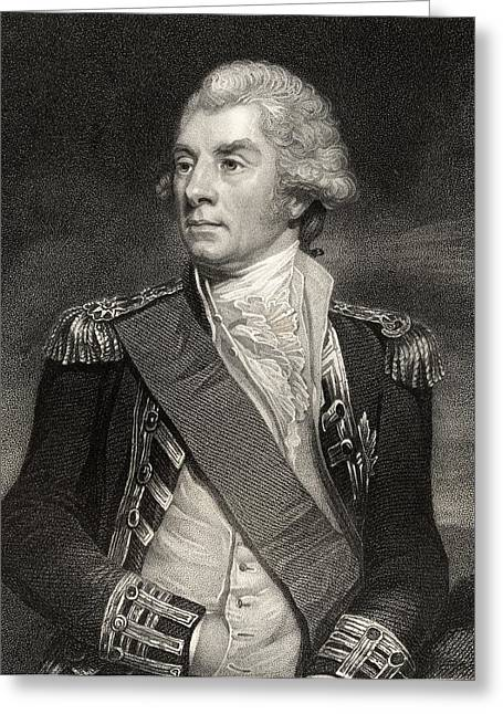 British Portraits Greeting Cards - Lord Keith. Admiral George Keith Greeting Card by Ken Welsh