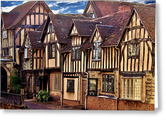 Warwick Digital Greeting Cards - Lord Leycester Hopital Greeting Card by Nick Eagles
