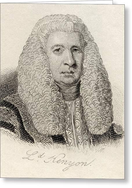 Chief Justice Drawings Greeting Cards - Lord Lloyd Kenyon, 1st Baron Kenyon Greeting Card by Vintage Design Pics