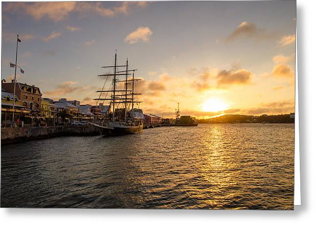 Masts Greeting Cards - Lord Nelson at Sunrise in Hamilton Greeting Card by Jeff at JSJ Photography