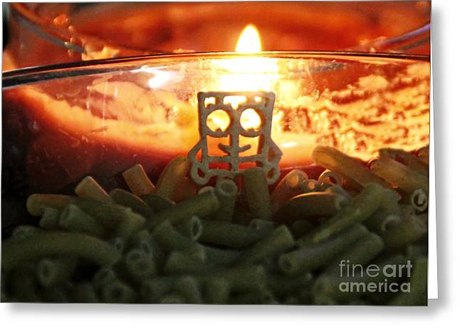 Candle Lit Greeting Cards - Lord of the Noodles Greeting Card by Catherine Melvin