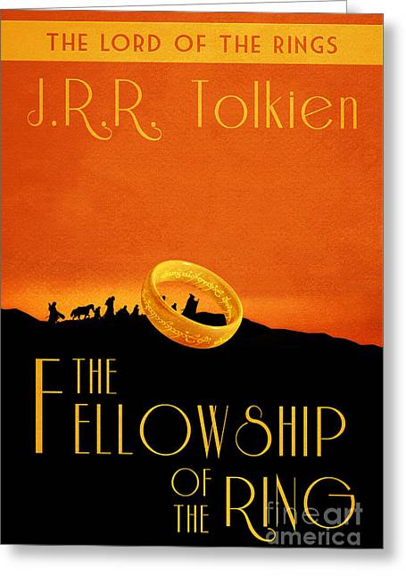 Lord Of The Rings Fellowship Of The Ring Book Cover Movie Poster Greeting Card by Nishanth Gopinathan
