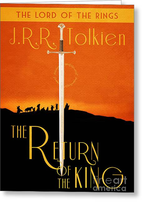 Lord Of The Rings The Return Of The King Book Cover Movie Poster Greeting Card by Nishanth Gopinathan