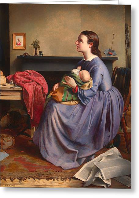 Loaf Of Bread Greeting Cards - Lord - Thy Will Be Done Greeting Card by Philip Hermogenes Calderon
