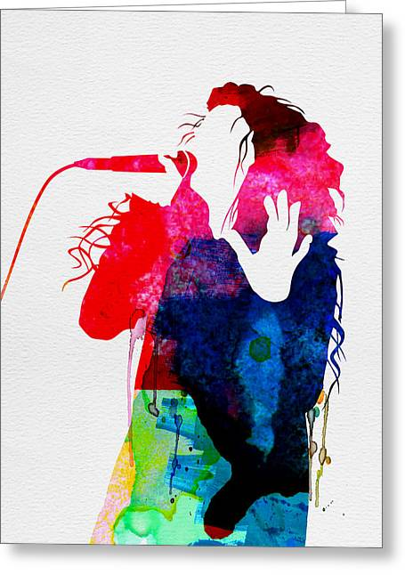 Pop Singer Greeting Cards - Lorde Watercolor Greeting Card by Naxart Studio
