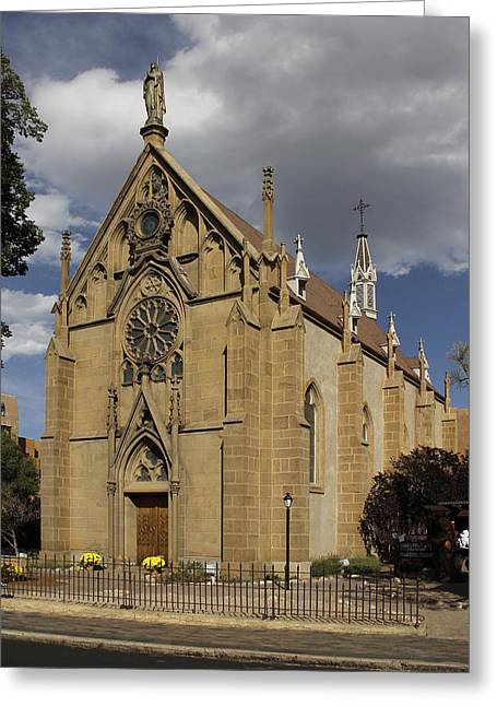 Church Photos Greeting Cards - Loretto Chapel - Santa Fe Greeting Card by Mike McGlothlen