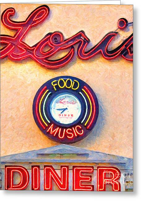 Loris Diner San Francisco Greeting Card by Wingsdomain Art and Photography