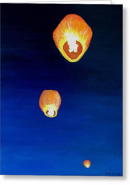 Lorraine's Lanterns Greeting Card by Jack Skinner