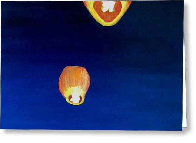 Lorraine's Lanterns Greeting Card by Jack Skinner