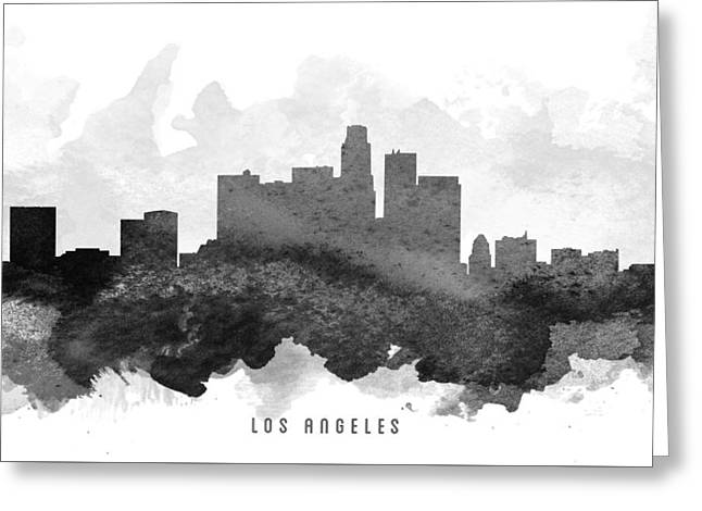 Down Town Los Angeles Greeting Cards - Los Angeles Cityscape 11 Greeting Card by Aged Pixel