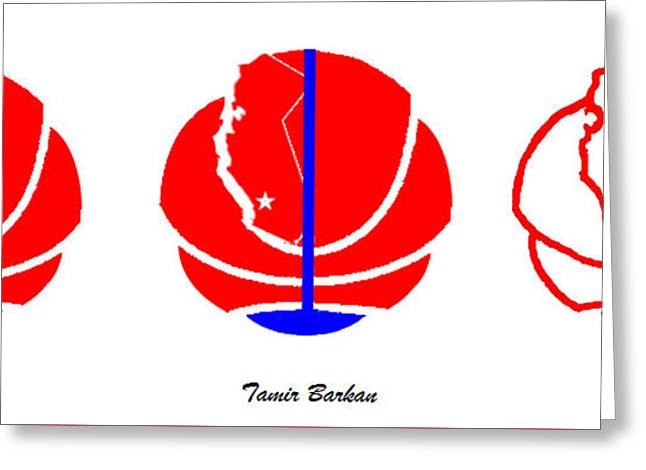 La Clippers Digital Greeting Cards - Los Angeles Clippers Logo Greeting Card by Tamir Barkan
