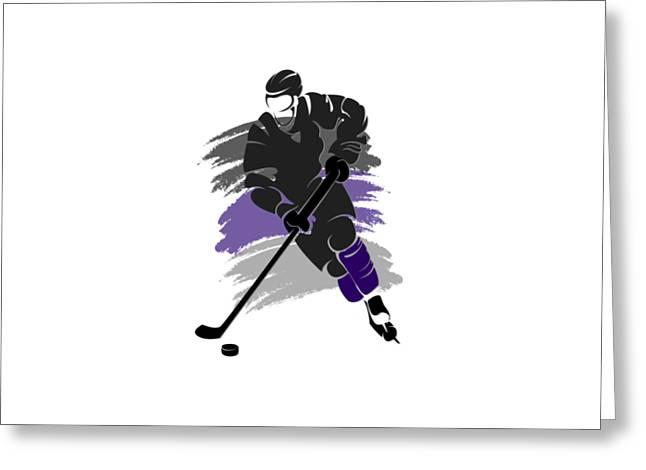 Ice-skating Greeting Cards - Los Angeles Kings Player Shirt Greeting Card by Joe Hamilton