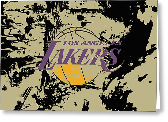 Los Angeles Lakers 1a Greeting Card by Brian Reaves