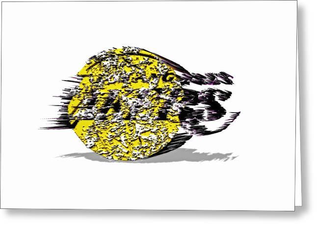 Kobe Mixed Media Greeting Cards - Los Angeles Lakers 6a Greeting Card by Brian Reaves