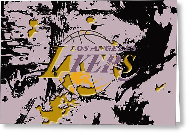 Los Angeles Lakers B1 Greeting Card by Brian Reaves