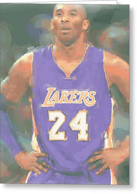 Los Angeles Lakers Kobe Bryant 2 Greeting Card by Joe Hamilton