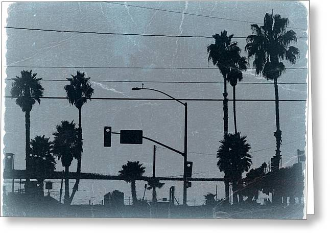 Los Angeles Greeting Card by Naxart Studio