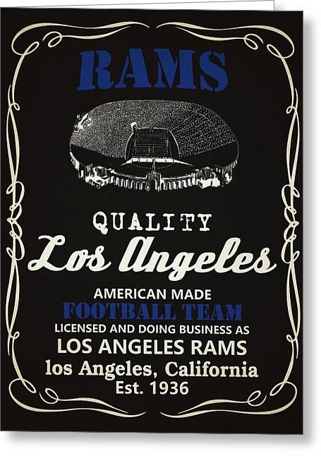 Los Angeles Rams Whiskey Greeting Card by Joe Hamilton