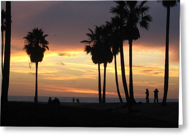 Yvonne Ayoub Greeting Cards - Los Angeles Venice Beach Greeting Card by Yvonne Ayoub