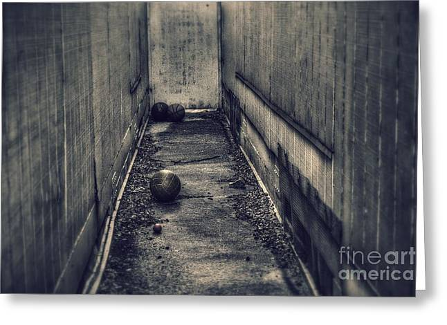 Basketballs Greeting Cards - Lost and Forgotten  Greeting Card by Leah McPhail