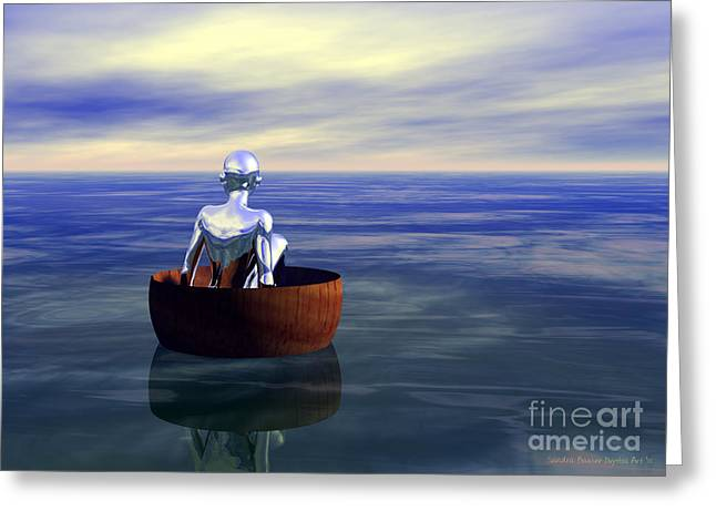 Lost At Sea Greeting Card by Sandra Bauser Digital Art