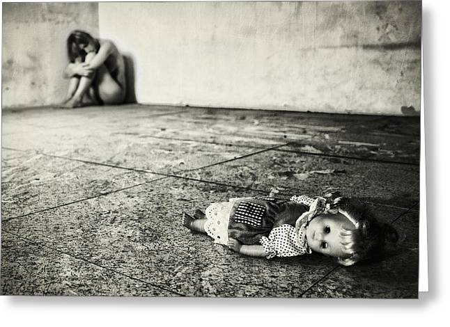 Doll Photographs Greeting Cards - Lost Doll Greeting Card by Stefano Miserini