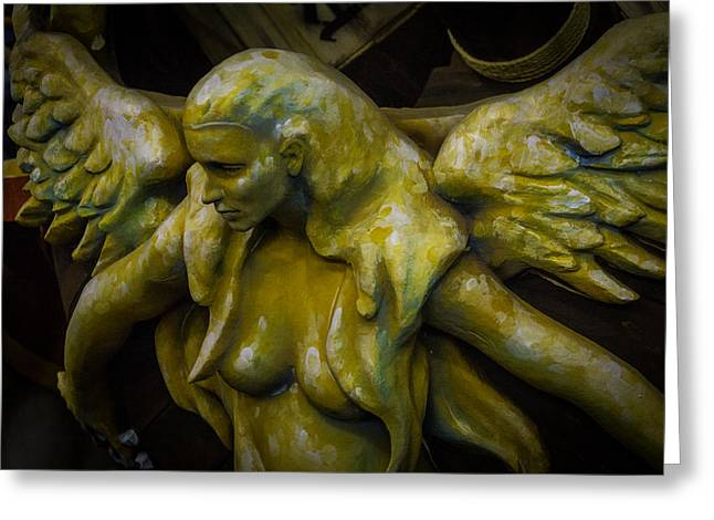 Lost Golden Angel Greeting Card by Garry Gay