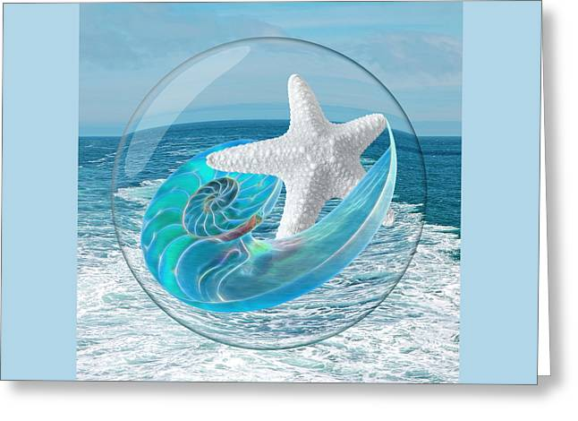 Lost In A Daydream - Floating On The Ocean Greeting Card by Gill Billington