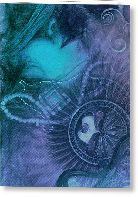 Fineartamerica Greeting Cards - Lost in blues Greeting Card by Andrea Ribeiro