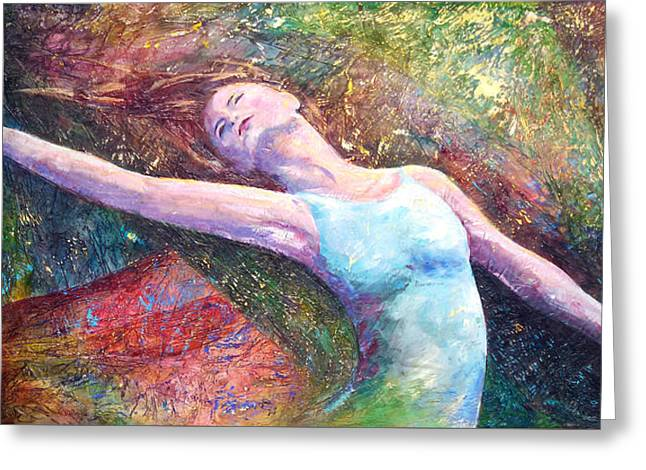 Lost In Dance  Greeting Card by David  Maynard