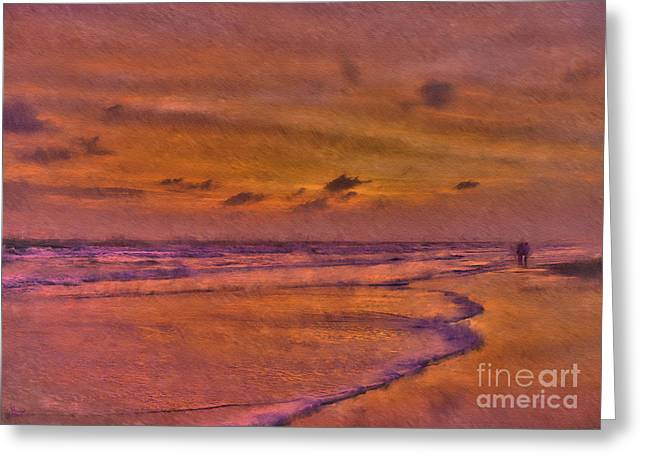 On The Beach Digital Greeting Cards - Lost In Love Greeting Card by Jeff Breiman