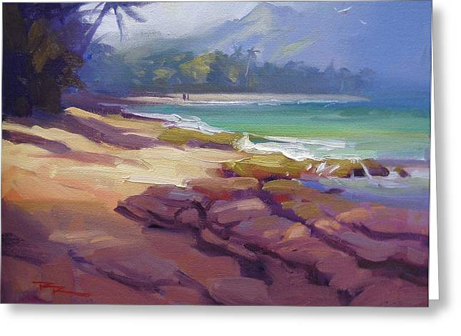 Haleiwa Greeting Cards - Lost in Paradise II Greeting Card by Richard Robinson