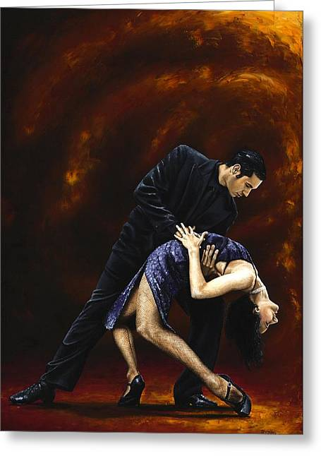 Tango Greeting Cards - Lost in Tango Greeting Card by Richard Young