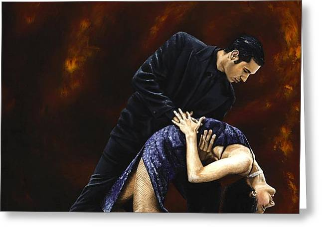 Lost in Tango Greeting Card by Richard Young