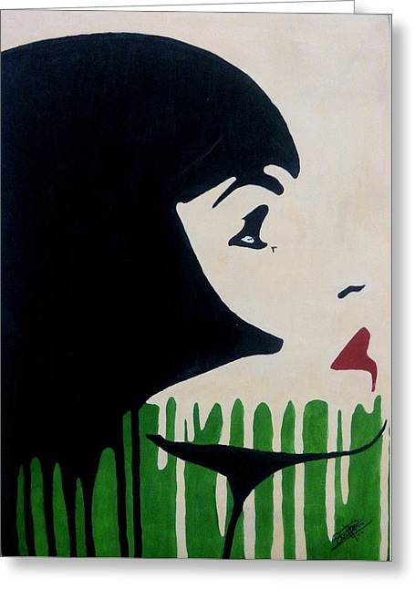 Pop Art Greeting Cards - Lost in Thought Greeting Card by Silpa Saseendran