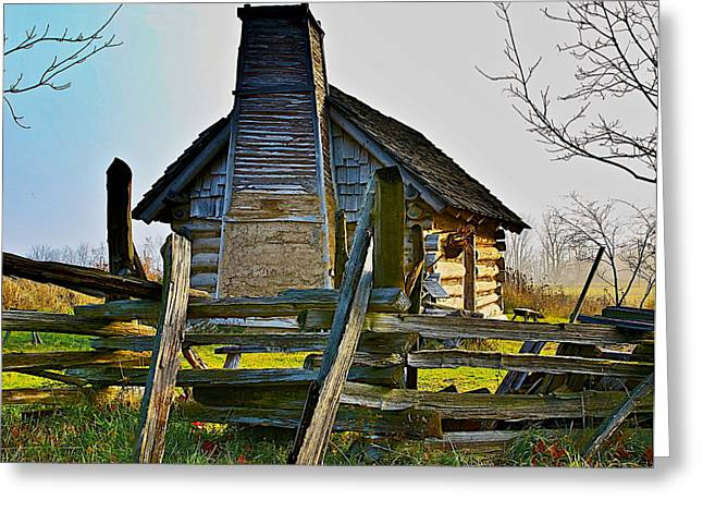 Log Cabins Greeting Cards - Lost in time Greeting Card by Robert Pearson